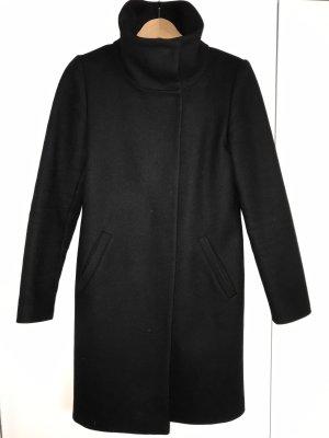 Hallhuber Wollen jas zwart Wol