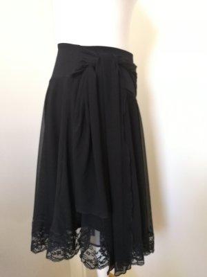 Sisley Asymetryczna spódniczka czarny