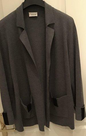 Rodier Blazer tejido gris-negro tejido mezclado