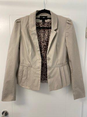 Eleganter taillierter Blazer H&M, beige, Gr 36
