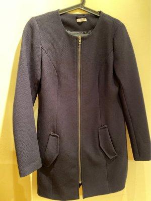 Jaqueline de Yong Between-Seasons-Coat dark blue polyester
