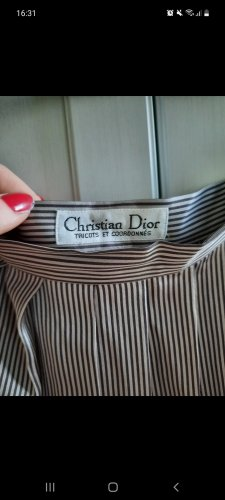 Christian Dior Gonna a pieghe viola-grigio