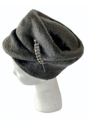 Cappello di lana grigio-grigio scuro