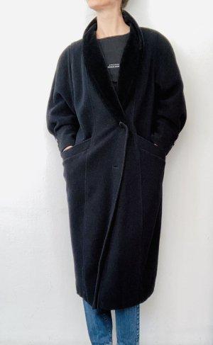 C&A Wełniany płaszcz czarny