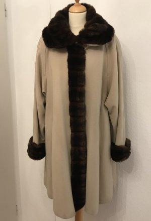 Damo Abrigo de lana beige claro-marrón Lana
