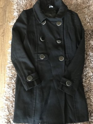 Eleganter Wintermantel schwarz
