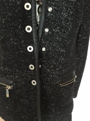 Apanage Blazer en laine noir-blanc laine