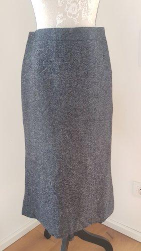 H&M Falda circular negro-gris oscuro