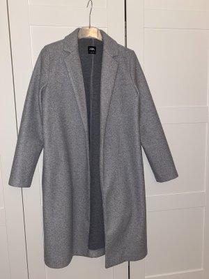 Zara Abrigo de lana gris claro-gris