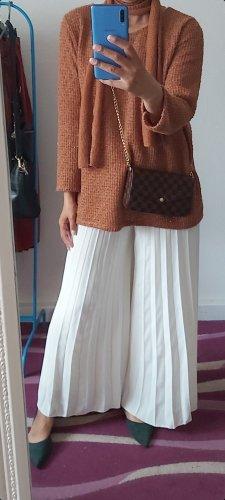 Tailleur-pantalon blanc-brun