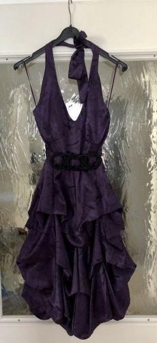 Xanaka Robe dos-nu gris violet-noir