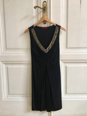 Elegantes Abendkleid | Kleines Schwarzes hochwertig Seide Luxus