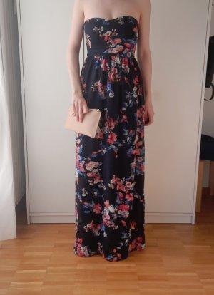 Elegantes Abendkleid mit floralem Muster-NEU-