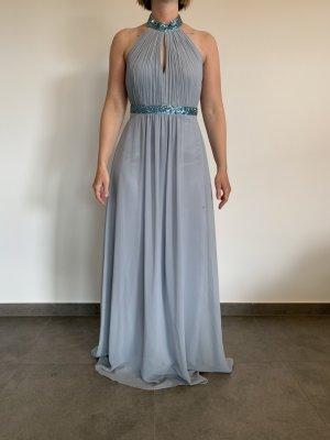 Elegantes Abendkleid von Vera Mont Gr. 34 blaugrau