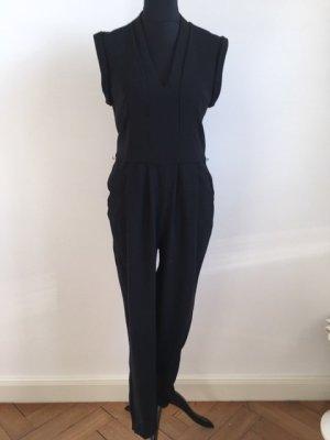 Mango Jumpsuit zwart Polyester