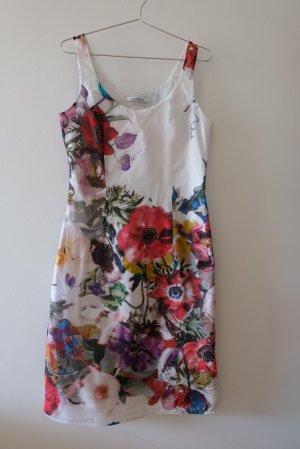 elegantes Baumwollkleid mit Blumendruck