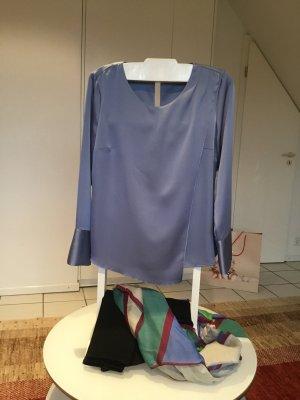 Elegantes Blusentop Jeansblau