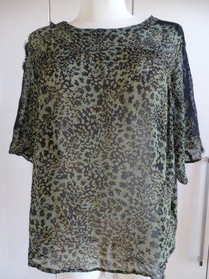 Set Camisa de mujer negro-verde oliva
