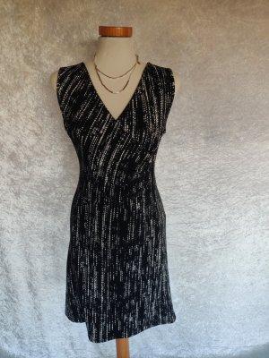 Promod Tube Dress white-black mixture fibre