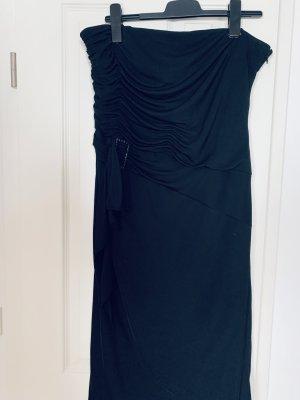 Dusk Robe bas asymétrique noir polyester