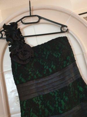 Off-The-Shoulder Dress black-green