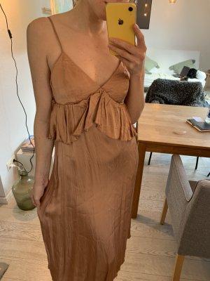Elegantes Cocktailkleid, Brautjungfern, Gold-Bronze, Abendkleid, Sommerparty Kleid