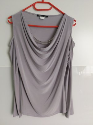 Ashley Brooke Cowl-Neck Shirt light grey