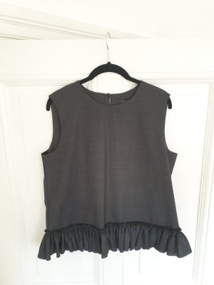 COS Peplum Top dark grey