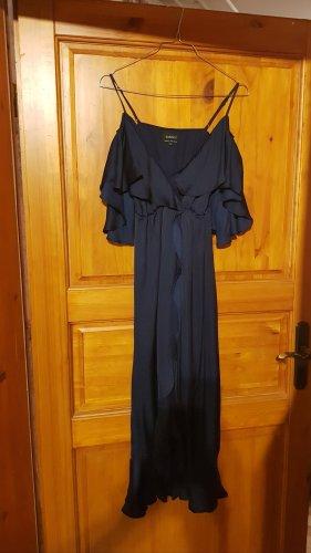 Bardot Robe de soirée bleu-bleu foncé