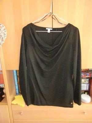 Esprit Koszulka z dekoltem woda czarny Wiskoza