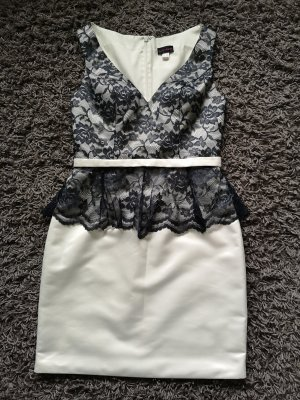 Laona Sheath Dress natural white-black polyester