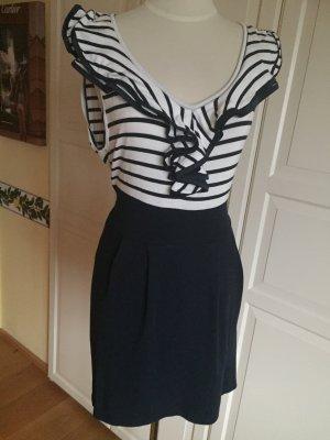 Elegantes figurbetontes Kleid im Marine Style