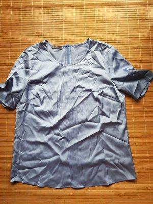 Basler Glanzende blouse azuur
