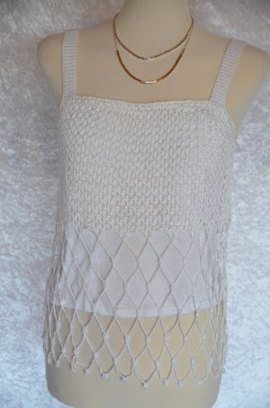 Apart Impressions Haut en crochet blanc viscose