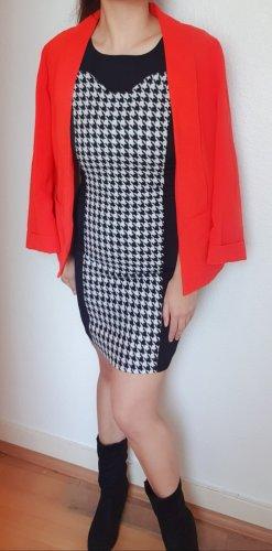 Elegantes Hahnentritt Muster Etuikleid/Business Wear