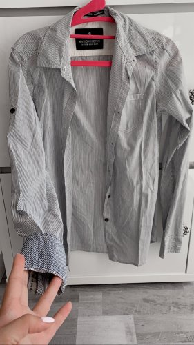 Elegantes Hemd Bluse Maison Scotch / gestreift Weiß blau / Größe 36