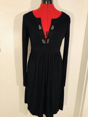 Elegantes Jersey Kleid mit Strassverzierung am Dekolleté