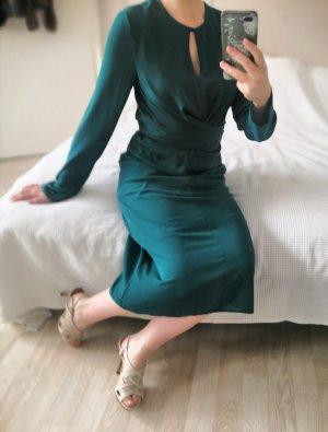 Elegantes Kiomi Langarmkleid waldgrün