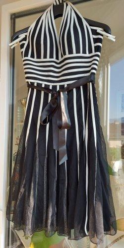 Mariposa Sukienka z dekoltem typu halter biały-czarny