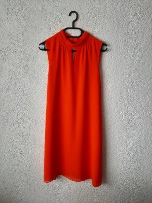 Mango Robe chiffon rouge