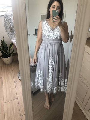 Together Evening Dress silver-colored-white