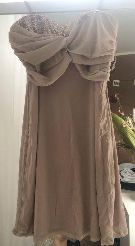 Esprit Robe mi-longue or rose