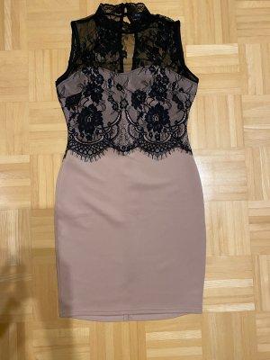 Amisu Ołówkowa sukienka czarny-stary róż