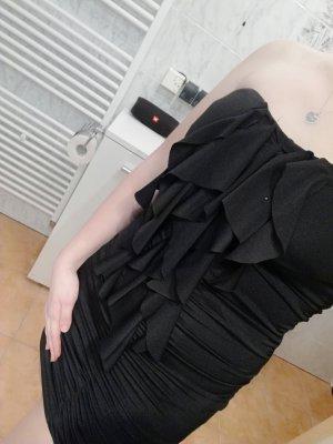 Abito senza spalle nero