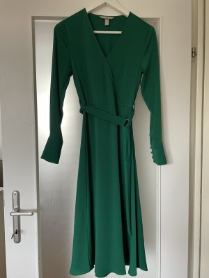 H&M Midi Dress forest green polyester