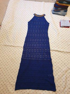Bodyflirt Vestido de cuello Halter azul tejido mezclado