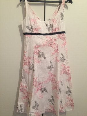 Elegantes Kleid Gr 40 Weiß mit Print