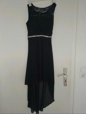 Elegantes Kleid in schwarz mit Spitze und Strass