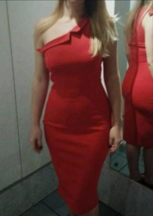 Handmade Midi Dress red