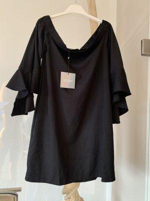 Elegantes Kleid .. Mini .. Off-Shoulder .. schwarz Gr. 36/38 # Missguided # Neu mit Etikett ..